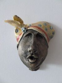 Ceramic Clay Face 1 by Andrea Peyton