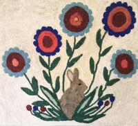 Rabbit in the Flowers by Anna Mallard