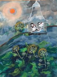 Birdhouse #4 by Christine Hannegan