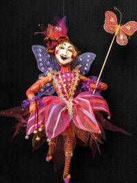 Red Striped Fairy by Louie Gizyn