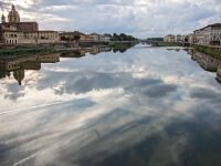 Arno River, Florence Italy by Rich Bergeman
