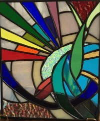 Abstract Rainbow by Rose McBride