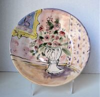 Flower Vase Plate by Sue Mason