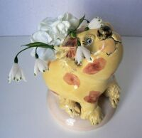 Spotted Dog Vase by Sue Mason