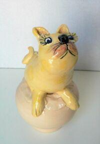 Yellow Cat by Sue Mason