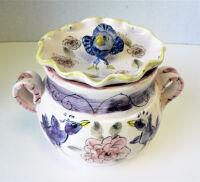 Covered Bird Bowl by Sue Mason